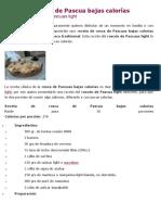 Rosca de Pascua Bajas Calorías
