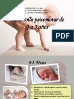 Desarrollo psicomotor 3 años