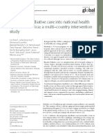 Grant L et al 2018 Integratign palliative care into national health systems in Africa