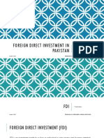 Foreign Direct Investment in Pakistan - Opportunities and Challenges