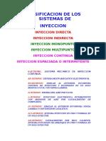 Clasificacion de Los Sistemas de Inyeccion_2009