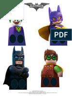 Lego Batman Printable Marionetas Dedos