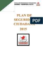 Plan Distrital Codisec 2015