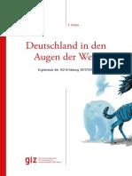 Deutschland in Den Augen Der Welt GIZ Erhebung Studie 2017 2018
