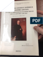 The Debut of the Superior Institute of Philosophy - Correspondence 1887-1904 (Avec Le Saint-Siege)