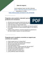 Ideas de Negocio - Archivo Con Preguntas