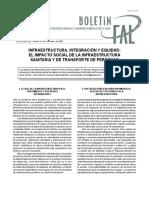 Infraestructura, integración y equidad el impacto social de la infraestrucutra sanitaria y de transporte de personas