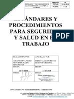 Estándares - Procedimientos SST