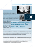 Human Resource Management in Cooperative Banks