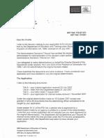 Letter From DET regarding Vexatious  & Complaint process  25 March 2008