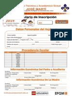 Formulario de Inscripción