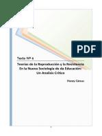 1186039623.06 - Giroux - Teorias de La Reproduccion y La Resistencia