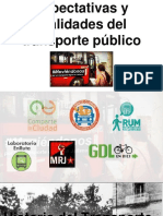 Expectativas y Realidades Del Transporte Público