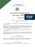 Ley de Honorarios Profesionales de Formosa