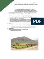 Planta de Tratamiento de Residuos Sólidos de Huaycoloro