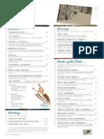 Timber & Torch menu