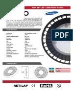 Ficha Técnica - High Bay LED DXPRO - 100W New Model Full