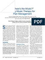 """Where's the Music"" - Using Music Therapy for Pain Management"