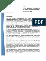 Analisis de La Conducta Dolosa a La Luz Del Causalismo
