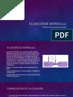 Ecuaciónde Bernoulli