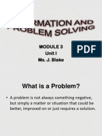 Information and Problem Solving-module 3