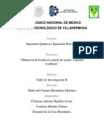 Proyecto Biodiesel Borrador 2018-10-16
