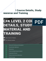 CFA Level 2 Course Details_ Study Material and Training