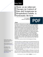 Music as an Adjuvant Therapy in Control of Pain and Symptoms in Hospitalized Adults - A Systematic Review