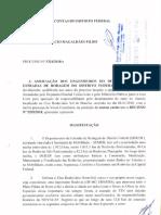 Associação de Engenheiros do DER encaminha defesa ao TCDF