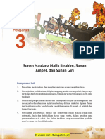 Pelajaran 3 Sunan Maulana Malik Ibrahim, Sunan AMpel, Dan Sunan Giri
