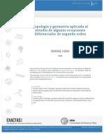 Topología y Ecuaciones Diferenciales de Segundo Orden.