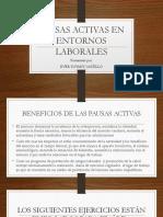 Pausas Activas en Entornos Laborales. Guia 9