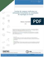 Teorías de Campos Conformes No Racionales Formuladas en Variedades de Topología No Trivial.