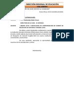 Oficio de Recepcion de Materiales Educativos