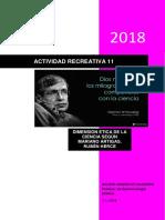 Actividad Recreativa 11. Dimension Ética de La Ciencia Según Mariano Artigas