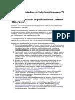 Guía Para Publicaciones en Linkedin