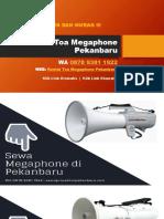 Sewa Megaphone Di Pekanbaru   WA 0878 9381 1922