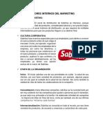 Factores Internos Del Marketing