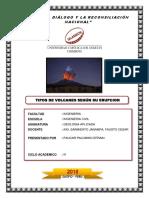 Tipos de Volcanes Segun Su Erupcion