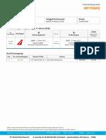 Tiket Order #64136143 Flight