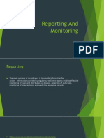 Topic 8 Reporting and Monitoring