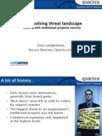 The evolving threat landscape