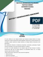 Motor y Generadores Sincrono