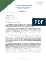 Carta de Rob Bishop a Matthew Whitaker