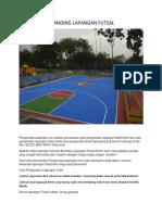 Branding Lapangan Futsal