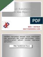 BAB. 2 - Tipe data, operator, variabel dan konstanta.pptx