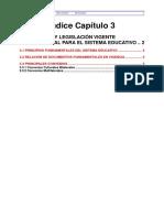 PRINCIPIOS Y LEGISLACIÓN VIGENTE FUNDAMENTAL PARA EL SISTEMA EDUCATIVO