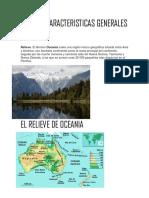 Oceania Caracteristicas Generales y Relieve