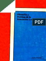 Jacobo Moquete- Filosofía y Política de la Educación