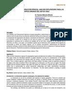 Las Ciudades y La Interacción Espacial, Análisis Exploratorio Para Los Centros Urbanos Del Sur de Chile